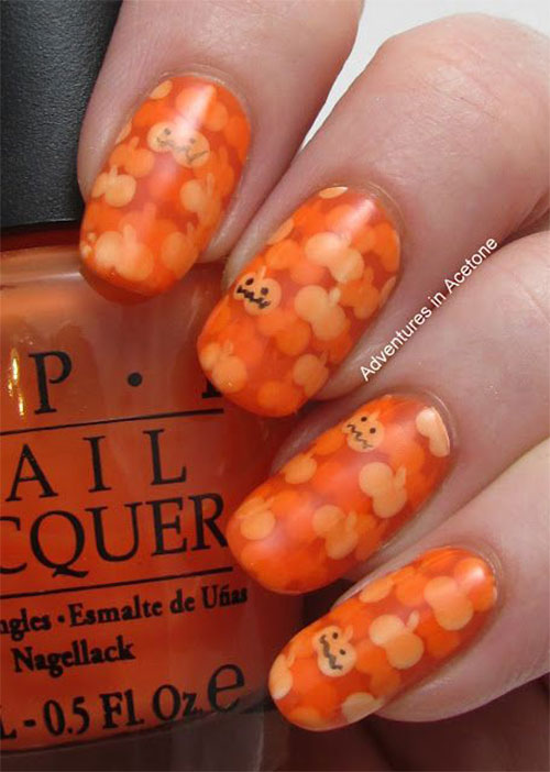 20-Halloween-Pumpkin-Nail-Art-Designs-Ideas-Trends- - 20 + Halloween Pumpkin Nail Art Designs, Ideas, Trends & Stickers
