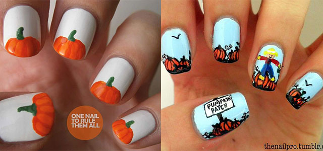 20 Pumpkin Nail Art Designs Ideas Trends Stickers 2017 Fabulous