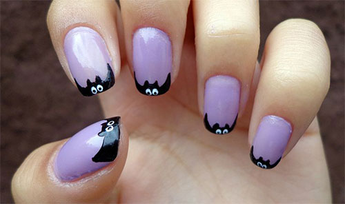 Easy Nail Art Designs For Halloween To Bend Light