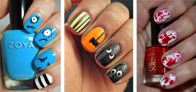 20 simple halloween nail art designs ideas trends - Halloween Easy Nail Art