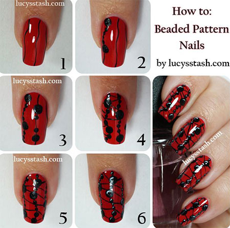 10-Easy-Red-Nail-Art-Tutorials-For-Beginners-Learners-2014-1
