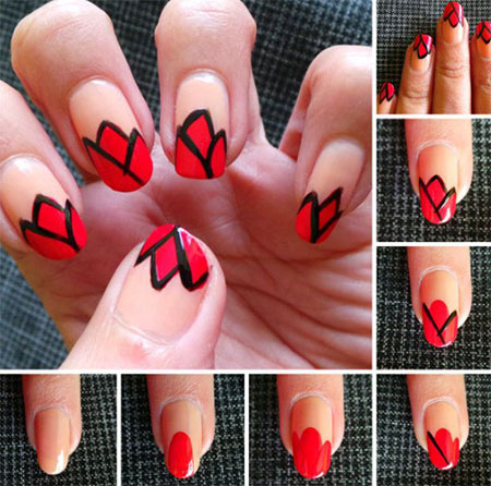 10-Easy-Red-Nail-Art-Tutorials-For-Beginners-Learners-2014-2