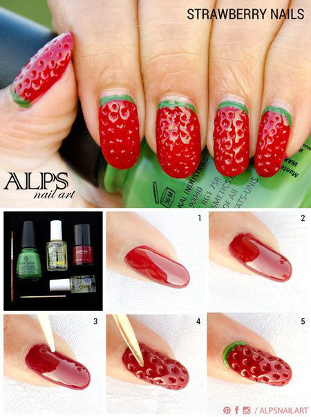 10-Easy-Red-Nail-Art-Tutorials-For-Beginners-Learners-2014-3