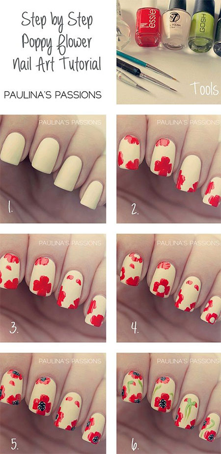 10-Easy-Red-Nail-Art-Tutorials-For-Beginners-Learners-2014-5