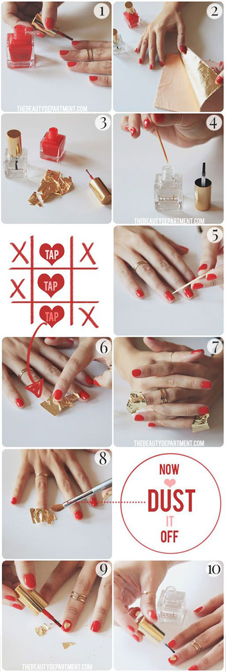 10-Easy-Red-Nail-Art-Tutorials-For-Beginners-Learners-2014-7