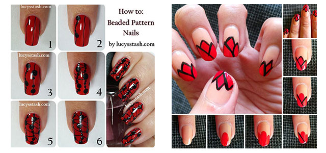 10-Easy-Red-Nail-Art-Tutorials-For-Beginners-Learners-2014
