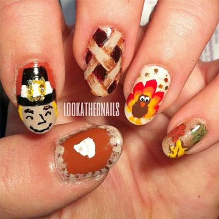 10-Turkey-Nail-Art-Designs-Ideas-Trends-Stickers- - 10 + Turkey Nail Art Designs, Ideas, Trends & Stickers 2014