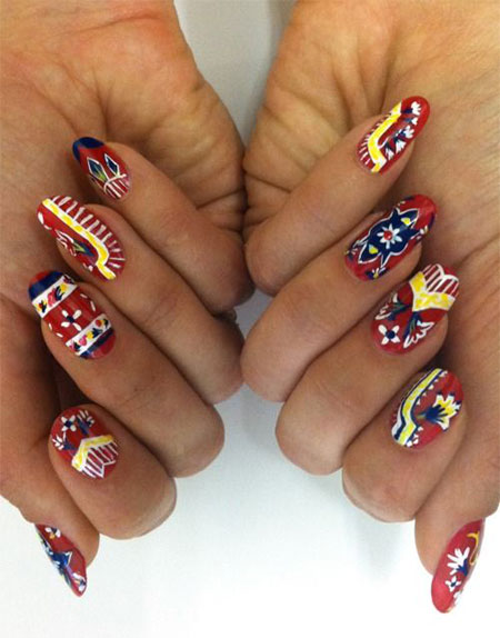 10 Turkey Nail Art Designs Ideas Trends Stickers 2014