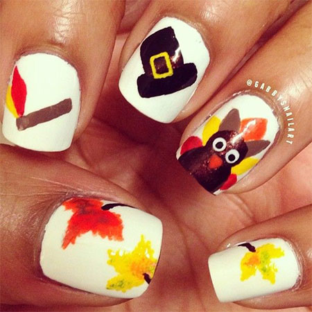 12 Easy Cute Thanksgiving Nail Art Designs Ideas Trends