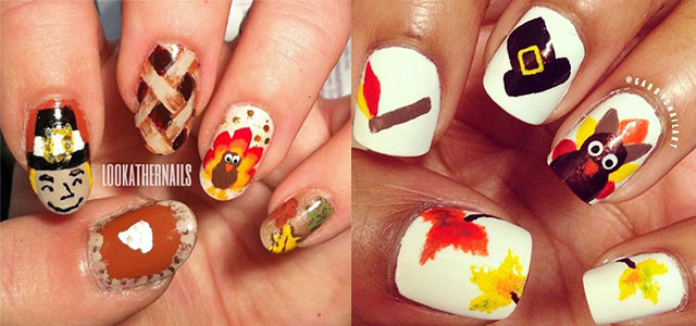 12 + Easy & Cute Thanksgiving Nail Art Designs, Ideas, Trends & Stickers  2014 | Fabulous Nail Art Designs - 12 + Easy & Cute Thanksgiving Nail Art Designs, Ideas, Trends