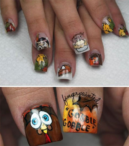 12-Thanksgiving-Nails-Art-Ideas-Designs-For-Girls-2014-14
