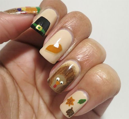 12-Thanksgiving-Nails-Art-Ideas-Designs-For-Girls-2014-8