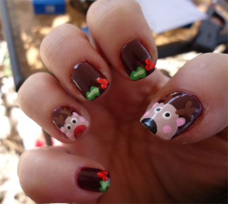 20 easy  simple christmas nail art designs ideas