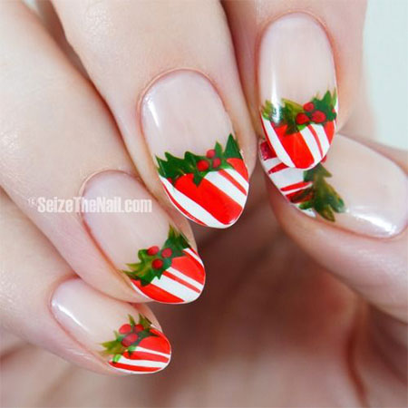 20-Easy-Simple-Christmas-Nail-Art-Designs-Ideas- - 20+ Easy & Simple Christmas Nail Art Designs, Ideas & Stickers