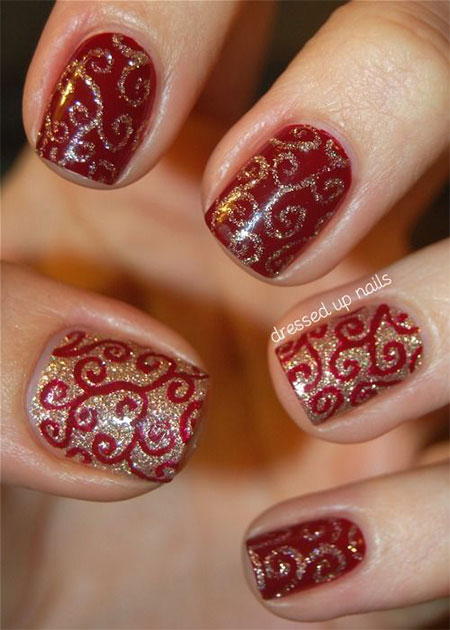 Christmas gel nail designs 2014