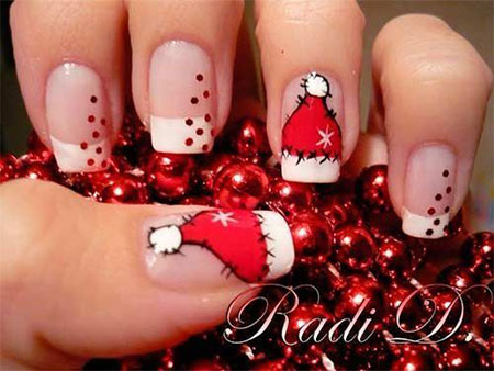 Xmas nail art pictures best nails 2018 20 easy simple christmas nail art designs ideas stickers prinsesfo Images