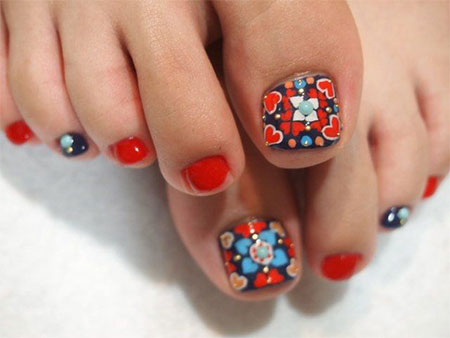 Cute-Red-Toe-Nail-Art-Designs-Ideas-Trends-Stickers-2014-1
