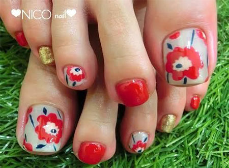 Cute-Red-Toe-Nail-Art-Designs-Ideas-Trends-Stickers-2014-2