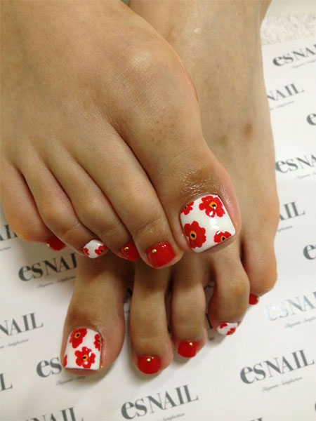 10 Red Toe Nail Art Designs, Ideas, Trends amp; Stickers 2014  Fabulous