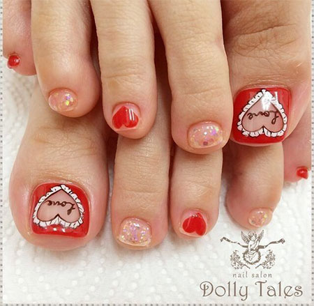 Cute-Red-Toe-Nail-Art-Designs-Ideas-Trends-Stickers-2014-5
