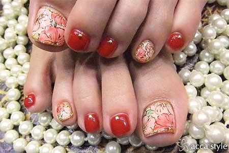 Cute-Red-Toe-Nail-Art-Designs-Ideas-Trends-Stickers-2014-6