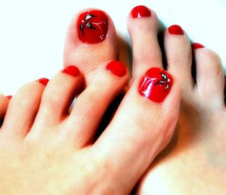 Cute-Red-Toe-Nail-Art-Designs-Ideas-Trends-Stickers-2014-8
