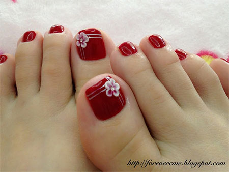 Cute-Red-Toe-Nail-Art-Designs-Ideas-Trends-Stickers-2014-9