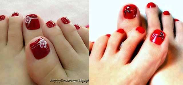 Cute-Red-Toe-Nail-Art-Designs-Ideas-Trends-Stickers-2014