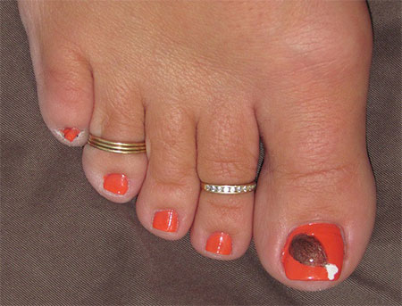 Cute Thanksgiving Toe Nail Art Designs Ideas 2014 Fabulous Nail