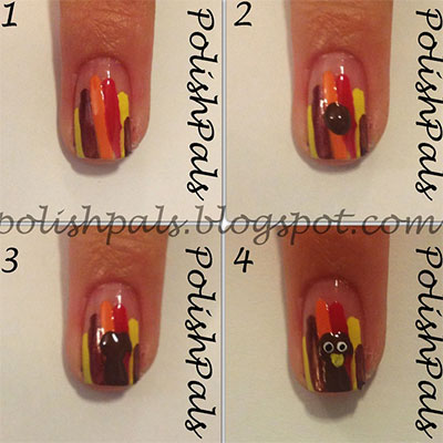 simple step by step thanksgiving nail art tutorials for