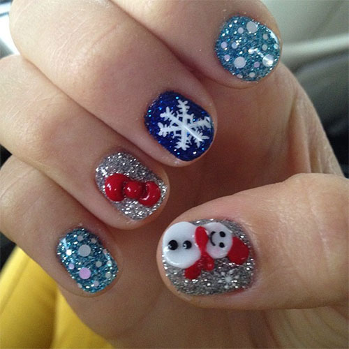 12 Christmas 3d Nail Art Designs Ideas Trends Stickers 2014