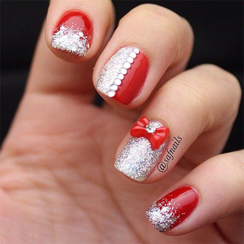 12 Christmas Nail Art Designs Ideas Trends Stickers 2017