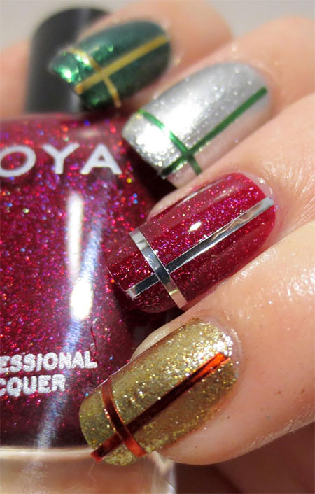 12-Easy-Christmas-Present-Nail-Art-Designs-Ideas-Trends-Stickers-2014-Xmas-Nails-3