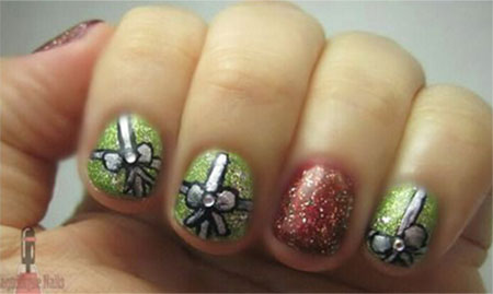 12 easy christmas present nail art designs ideas trends 12 easy christmas present nail art designs ideas prinsesfo Gallery