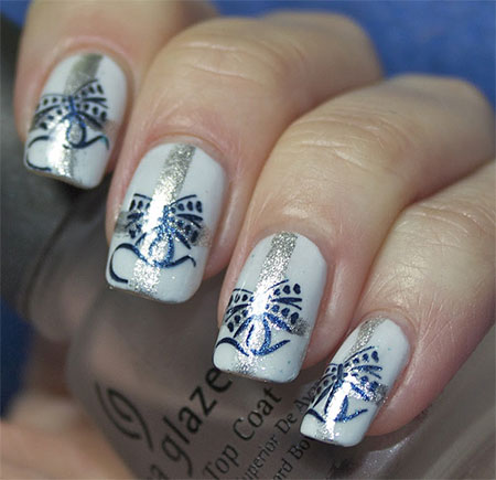 12 easy christmas present nail art designs ideas trends