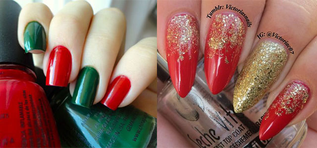 15 red green gold christmas nail art designs ideas trends stickers 2014 xmas nails fabulous nail art designs