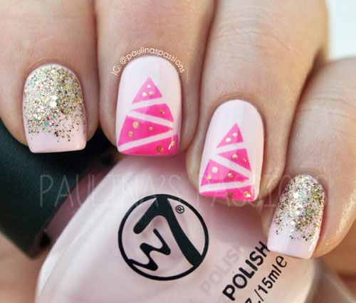 15-Simple-Christmas-Tree-Nail-Art-Designs-Ideas-Stickers-2014-1