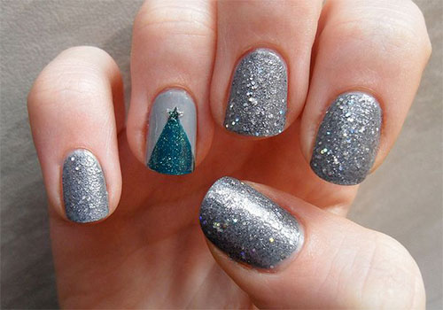 15-Simple-Christmas-Tree-Nail-Art-Designs-Ideas-Stickers-2014-13
