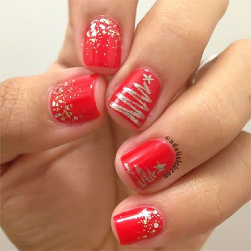 15-Simple-Christmas-Tree-Nail-Art-Designs-Ideas-Stickers-2014-14