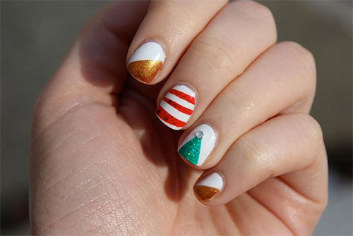 15-Simple-Christmas-Tree-Nail-Art-Designs-Ideas-Stickers-2014-15