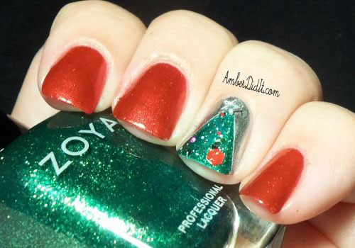 15-Simple-Christmas-Tree-Nail-Art-Designs-Ideas-Stickers-2014-5