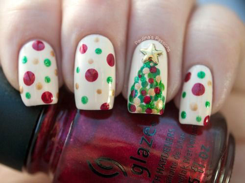 15-Simple-Christmas-Tree-Nail-Art-Designs-Ideas-Stickers-2014-6