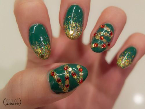 15+ Simple Christmas Tree Nail Art Designs, Ideas & Stickers 2014 ...