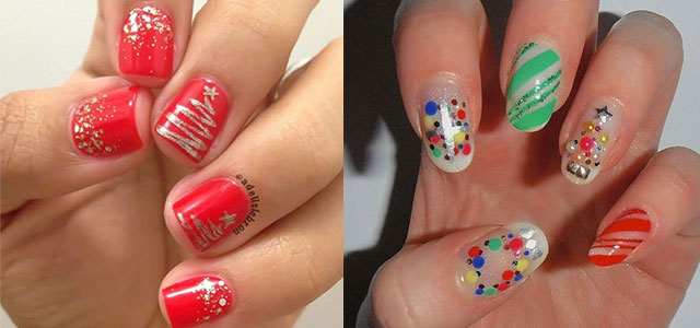 15-Simple-Christmas-Tree-Nail-Art-Designs-Ideas-Stickers-2014-F