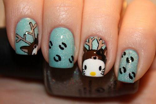 20-Cool-Reindeer-Nail-Art-Designs-Ideas-Trends-Stickers-2014-Xmas-Nails-13