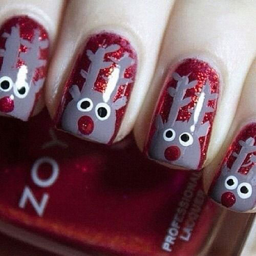20-Cool-Reindeer-Nail-Art-Designs-Ideas-Trends-Stickers-2014-Xmas-Nails-15