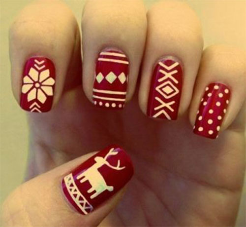 20-Cool-Reindeer-Nail-Art-Designs-Ideas-Trends-Stickers-2014-Xmas-Nails-6