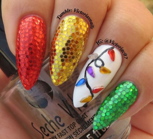 Christmas-Lights-Nail-Art-Designs-Ideas-Stickers-2014-Xmas-Nails-7