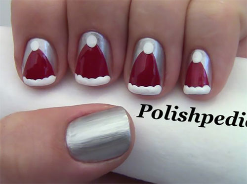 Cute-Christmas-Hat-Nail-Art-Designs-Ideas-Trends-Stickers-2014-Xmas-Nails-2