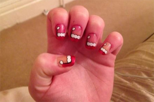 Cute Christmas Hat Nail Art Designs, Ideen, Trends & Stickers 2014
